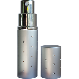 Atomizer 10ml srebrny diament płaski